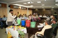 Demostration regarding Segregation of waste at source to the public representatives.